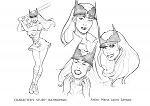 Bombshell Test Character study_ Batwoman low