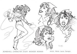 Bombshell Test Character study_ Wonder Woman low