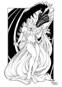 daenerys with dragon low