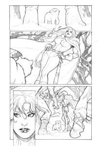 red sonja berserker page 2 pencil low