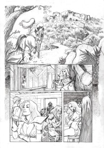 red sonja page 1 pencil low