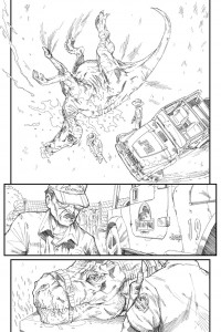 Jurassic Parc sample page 4 pencils Kevin Enhart